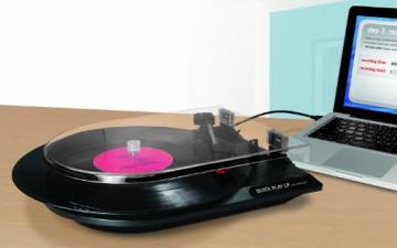 Ion Audio Quickplay | Vinyl Plattenspieler / Turntable und USB Digital Encoder mit Cinch-Ausgang - inkl. Converter Software (MAC/PC) - 4