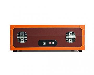 Ion Audio Vinyl Motion Deluxe | Transportabler Retro Koffer Plattenspieler mit USB Digital Encoder + wiederaufladbarem Akku - inkl. Converter Software (MAC/PC) - Braun - 5