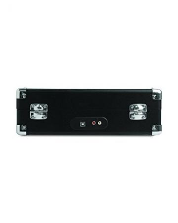 Ion Audio Vinyl Motion | Transportabler Retro Koffer Plattenspieler mit USB Digital Encoder + wiederaufladbarem Akku - inkl. Converter Software (MAC/PC) - Schwarz - 3