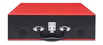 Ion Audio Vinyl Transport   Transportabler Retro Koffer Plattenspieler mit eingebauten Stereo Lautsprechern - kann auch über AA Batterien betrieben werden - 2