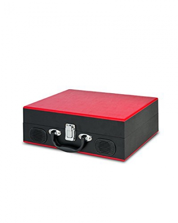 Ion Audio Vinyl Transport   Transportabler Retro Koffer Plattenspieler mit eingebauten Stereo Lautsprechern - kann auch über AA Batterien betrieben werden - 3
