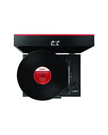 Ion Audio Vinyl Transport   Transportabler Retro Koffer Plattenspieler mit eingebauten Stereo Lautsprechern - kann auch über AA Batterien betrieben werden - 5