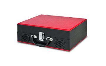 Ion Audio Vinyl Transport   Transportabler Retro Koffer Plattenspieler mit eingebauten Stereo Lautsprechern - kann auch über AA Batterien betrieben werden - 7