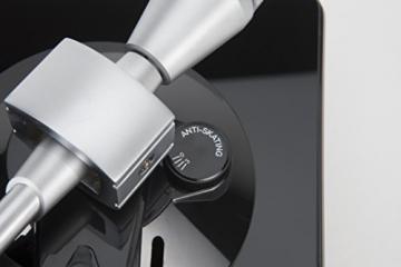 Lenco L-175 Edler Glas Plattenspieler mit Direktantrieb (USB, Aluminiumteller, Stereo Vorverstärker, Anti-Skating, Auto-Stop) - 11