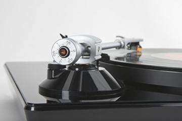 Lenco L-175 Edler Glas Plattenspieler mit Direktantrieb (USB, Aluminiumteller, Stereo Vorverstärker, Anti-Skating, Auto-Stop) - 4