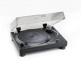 Lenco L-3807 professioneller Plattenspieler mit Direct Drive, Quickstart, Schieberegler für Pitch Control und Antiskating schwarz - 1