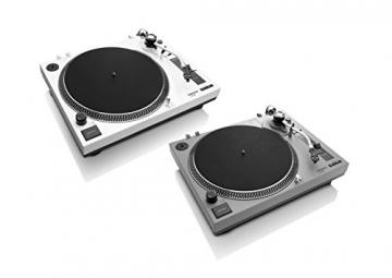 Lenco L-3808 White Plattenspieler mit Direktantrieb, USB-Aufnahme, USB-Eingang, MMC, Digitalisierung über PC, abnehmbare Staubschutzhaube - 2