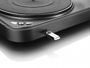 Lenco L-83 USB-Plattenspieler mit Direct Encoding metallic-grau - 13