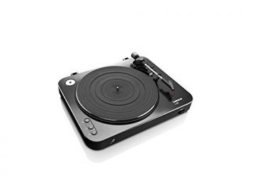 Lenco L-85 Plattenspieler mit USB Direct Encoding/Vorverstärker (USB-Eingang, MMC, Track Splitting, Riemenantrieb, halbautomatisch, abnehmbare Staubschutzhaube) schwarz - 5