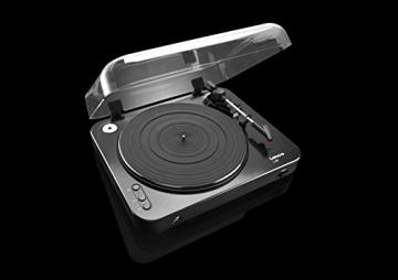 Lenco L-85 Plattenspieler mit USB Direct Encoding/Vorverstärker (USB-Eingang, MMC, Track Splitting, Riemenantrieb, halbautomatisch, abnehmbare Staubschutzhaube) schwarz - 7