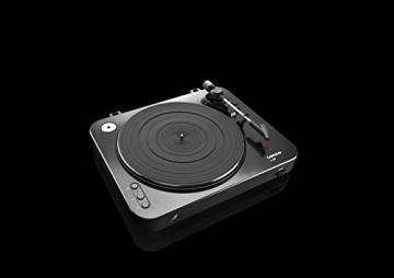 Lenco L-85 Plattenspieler mit USB Direct Encoding/Vorverstärker (USB-Eingang, MMC, Track Splitting, Riemenantrieb, halbautomatisch, abnehmbare Staubschutzhaube) schwarz - 10