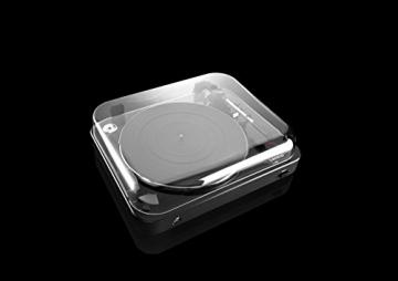 Lenco L-85 Plattenspieler mit USB Direct Encoding/Vorverstärker (USB-Eingang, MMC, Track Splitting, Riemenantrieb, halbautomatisch, abnehmbare Staubschutzhaube) schwarz - 11