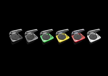 Lenco L-85 Plattenspieler mit USB Direct Encoding/Vorverstärker (USB-Eingang, MMC, Track Splitting, Riemenantrieb, halbautomatisch, abnehmbare Staubschutzhaube) grün - 8