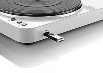LENCO L-85, Plattenspieler mit USB Direct Encoding und Vorverstärker (USB-Eingang, MMC, Track Splitting, Riemenantrieb, halbautomatisch, abnehmbare Staubschutzhaube), in 6 Farben erhältlich - 5