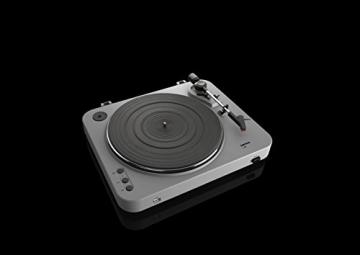 Lenco L-85 Plattenspieler mit USB Direct Encoding/Vorverstärker (USB-Eingang, MMC, Track Splitting, Riemenantrieb, halbautomatisch, abnehmbare Staubschutzhaube) matt-grau - 10