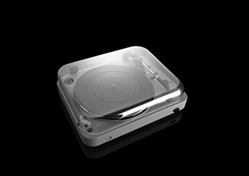 Lenco L-85 Plattenspieler mit USB Direct Encoding/Vorverstärker (USB-Eingang, MMC, Track Splitting, Riemenantrieb, halbautomatisch, abnehmbare Staubschutzhaube) matt-grau - 11