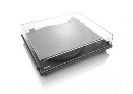 Lenco L-86 Slimline Plattenspieler (USB-Anschluss, Audio Technica Tonabnehmer, Riemenantrieb, Holzgehäuse) - 1