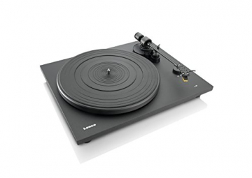 Lenco L-86 Slimline Plattenspieler (USB-Anschluss, Audio Technica Tonabnehmer, Riemenantrieb, Holzgehäuse) - 5