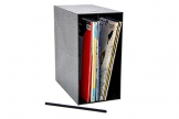 LP Schallplatten Regal Kunststoff Box musictools, für 50 Vinyl Platten, zum Stapeln oder Aufhängen - 1