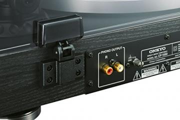 Onkyo CP-1050 (D) Hi-Fi Plattenspieler (Direktantrieb, 33/45rpm, MM Tonabnehmer) schwarz - 3