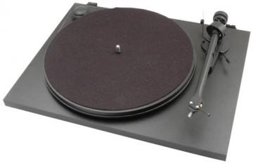 Pro-Ject Essential II Audiophiler Plattenspieler (Ortofon Tonabnehmer OM5e vormontiert) schwarz - 1