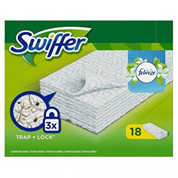 Swiffer Trocken Wischtücher mit Febrezeduft, 2er Pack (2 x 18 Stück) - 1