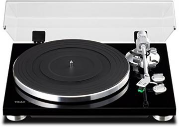 Teac TN-300-B HiFi-Plattenspieler (Riemenantrieb, 33/45rpm, USB-Ausgang für Mac/PC, Line/Phono Umschalter) schwarz - 2