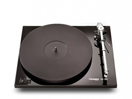 Thorens TD 203 High End Plattenspieler inkl. Ortofon 2M Blue MM-Tonabnehmer   Schwarz - 1