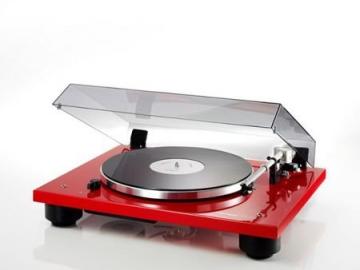 Thorens TD 206 High End Plattenspieler mit vormontiertem Tonabnehmer - Rot glänzend - 1
