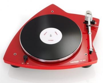 Thorens TD 209 High End Plattenspieler mit vormontiertem Tonabnehmer - Rot glänzend - 1