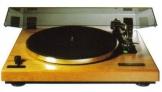 Thorens TD 240 Vollautomatischer Plattenspieler (DC-Motor, TP 21 Tonarm, AT-95E Tonabnehmer, Acryl Staubschutzhaube) echtholz-massivholz-hell - 1
