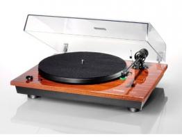 Thorens TD 295 Halbautomatischer Plattenspieler (AC-Synchronmotor, TP 41 Tonarm, AT-95E Tonabnehmer, Acryl Staubschutzhaube) klavierlack-mahagoni - 1
