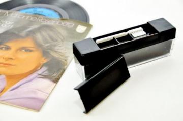 Vinyl Schallplattenbürste, Samtreiniger mit Saphir Reiniger - 3