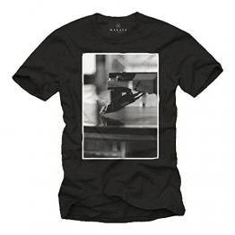 Coole Dj T-Shirts für Herren PLATTENNADEL schwarz Größe XXL - 1