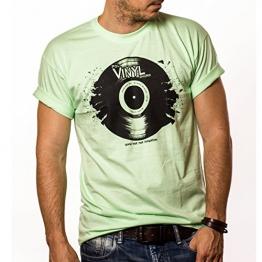 Musik T-Shirt mit Schallplatte VINYL Dj mint Größe M - 1