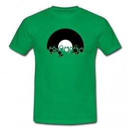 Schallplatte Mit Seifenblasen Männer T-Shirt von Spreadshirt, L, Kelly Green - 1
