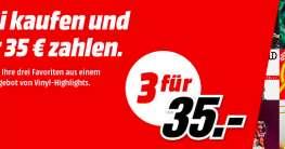 3 Vinyl für 35 EUR bei MediaMarkt.de